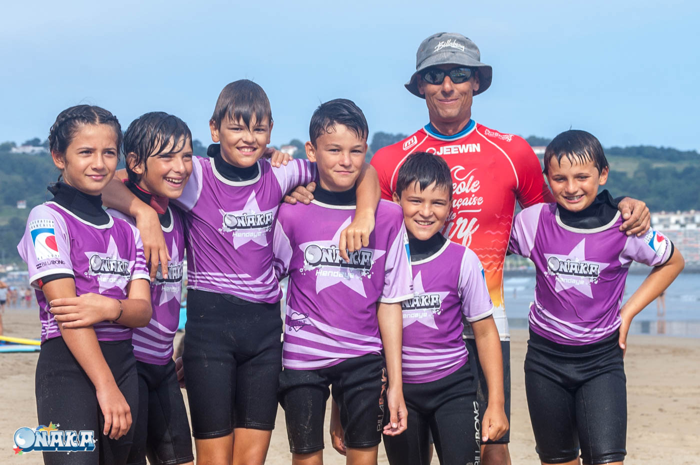 Onaka - cours surf Hendaye-photo groupe